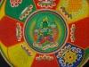 An elegant Green Tara emerged today at the heart of the monks' mandala.