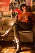 Susan Shillinglaw sitting on a chair